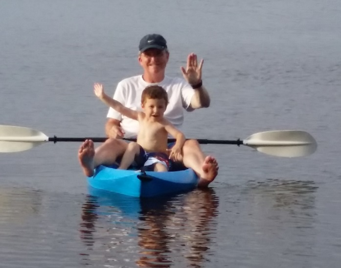 Noah and I Kayaking