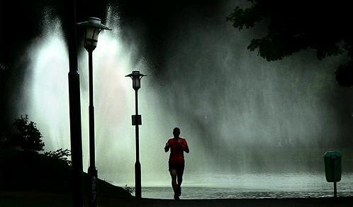 A RUN IN THE RAIN